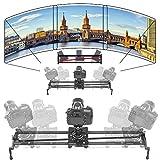 ASHANKS S2 1.2m/3.9ft Track Camera Slider Carbon Fiber Adjustable Angle Tube Follow Focus Pan for Stabilizer DV DSLR Camera Youtube Video Shooting