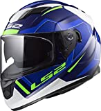 LS2 Helmets Stream Axis Blue Graphic Unisex-Adult Full-Face-Helmet-Style Motorcycle Helmet (Blue, Large)