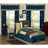 Construction Zone Childrens and Kids 3 Piece Full / Queen Boys Bedding Set