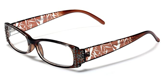 e46c7113e38 Amazon.com  Rhinestone Butterfly Shape Ladies Reading Glasses Various  Strengths and Colors fit EXTRA SMALL - SMALL or KIDS size  Clothing