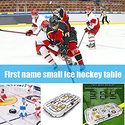 Kegiit Juego de Mesa para niños Mini Rod Hockey Table Top Accessories Family Play Fun Juego de Mesa: Amazon.es: Hogar