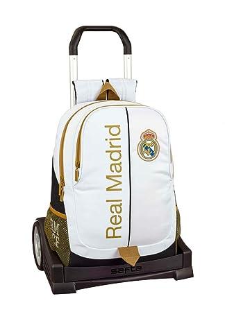 Real Madrid CF Mochila con Carro Ruedas Evolution, Trolley