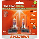 SYLVANIA H11 SilverStar Ultra High Performance Halogen Headlight Bulb, (Pack of 2)