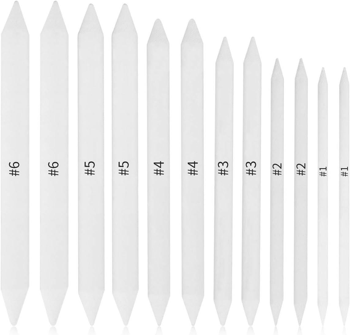 Tocawe - Juego de 12 tortillones de papel de mezcla, diseño de artista de dibujo y bricolaje