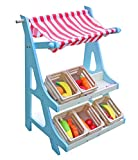 Cheerwing Wooden Grocery Store and Fruits Stand Pretend Play Toys with Fruits and Vegetables