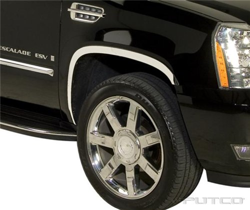 Putco 97321 Stainless Steel Full Fender Trim Kit for Cadillac (Cadillac Escalade Fender Trim)