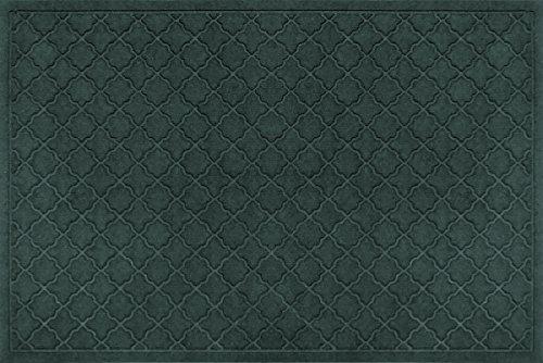 Bungalow Flooring Waterhog Indoor/Outdoor Doormat, 3' x 5', Skid Resistant, Easy to Clean, Catches Water and Debris, Cordova Collection, Evergreen