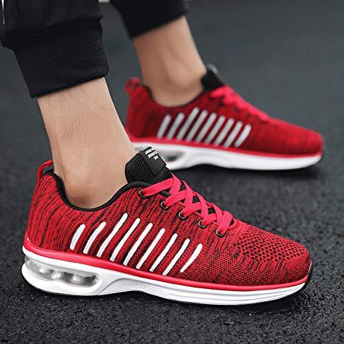 Rotonda Toe Outdoor Antiurto Oyedens Shoes Uomo Ginnastica Corsa Sneakers Da Rosso Running Sportive Scarpe Sports xY80wq8Zz