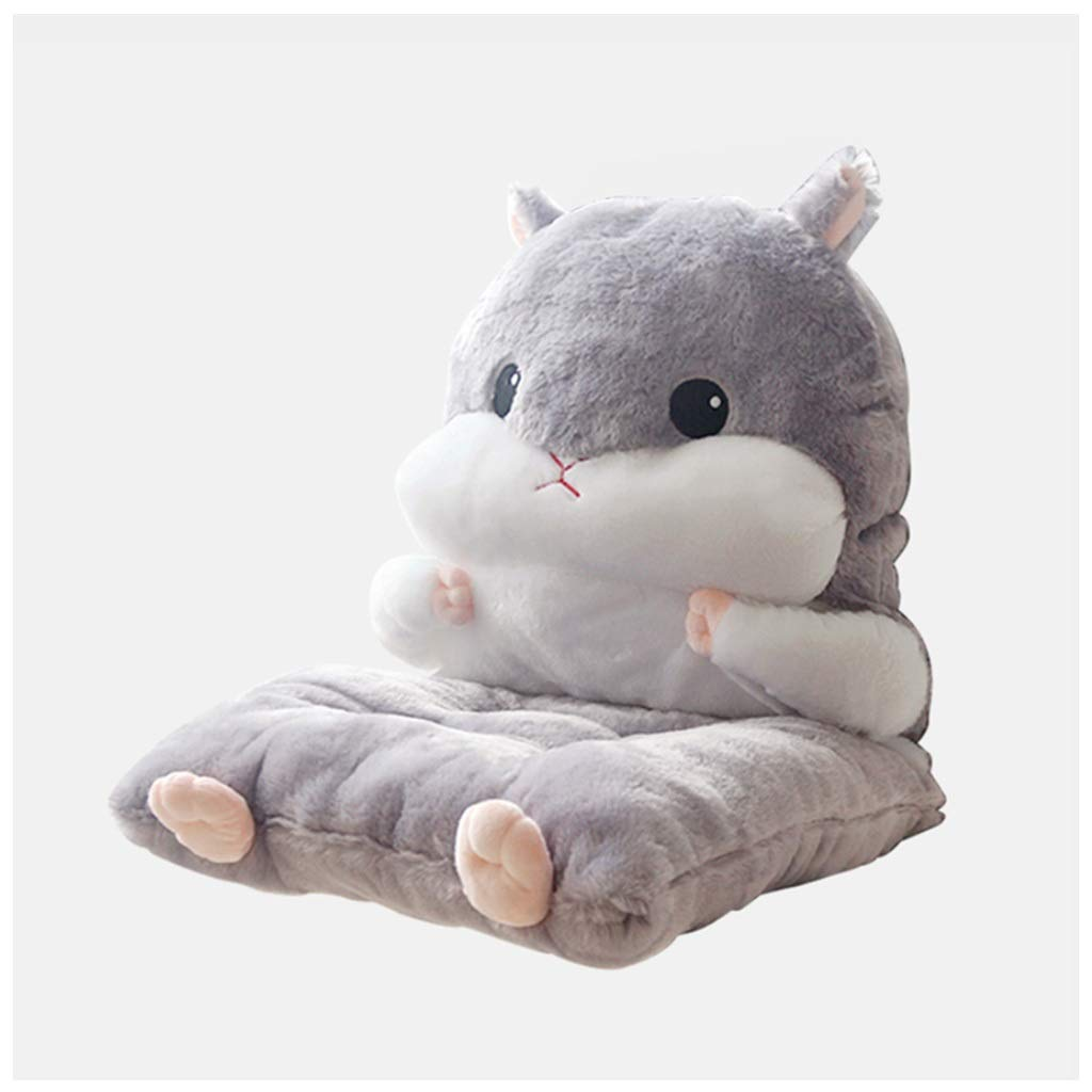 ALXLX Cute Squirrel Reading Pillow - Firm Back Support & Comfy Cushion for Bed, Sofa, Couch & TV ,Office Sofa Cushion Coffee Shop Backrest Lumbar Pillow
