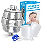 Shower Water Filter Kit- Multi-Stage Water Filter + 2 Cartridges + Teflon Tape to Remove Chlorine Fluoride Impurities - Universal Handheld Replaceable Water Softener for Healthy Skin & Baby Bath