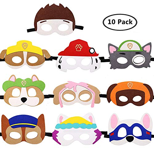 Paw-Patrol Puppy Felt Masks for Birthday- Paw- Patrol Cosplay Character Party Favors Party Supplies for -