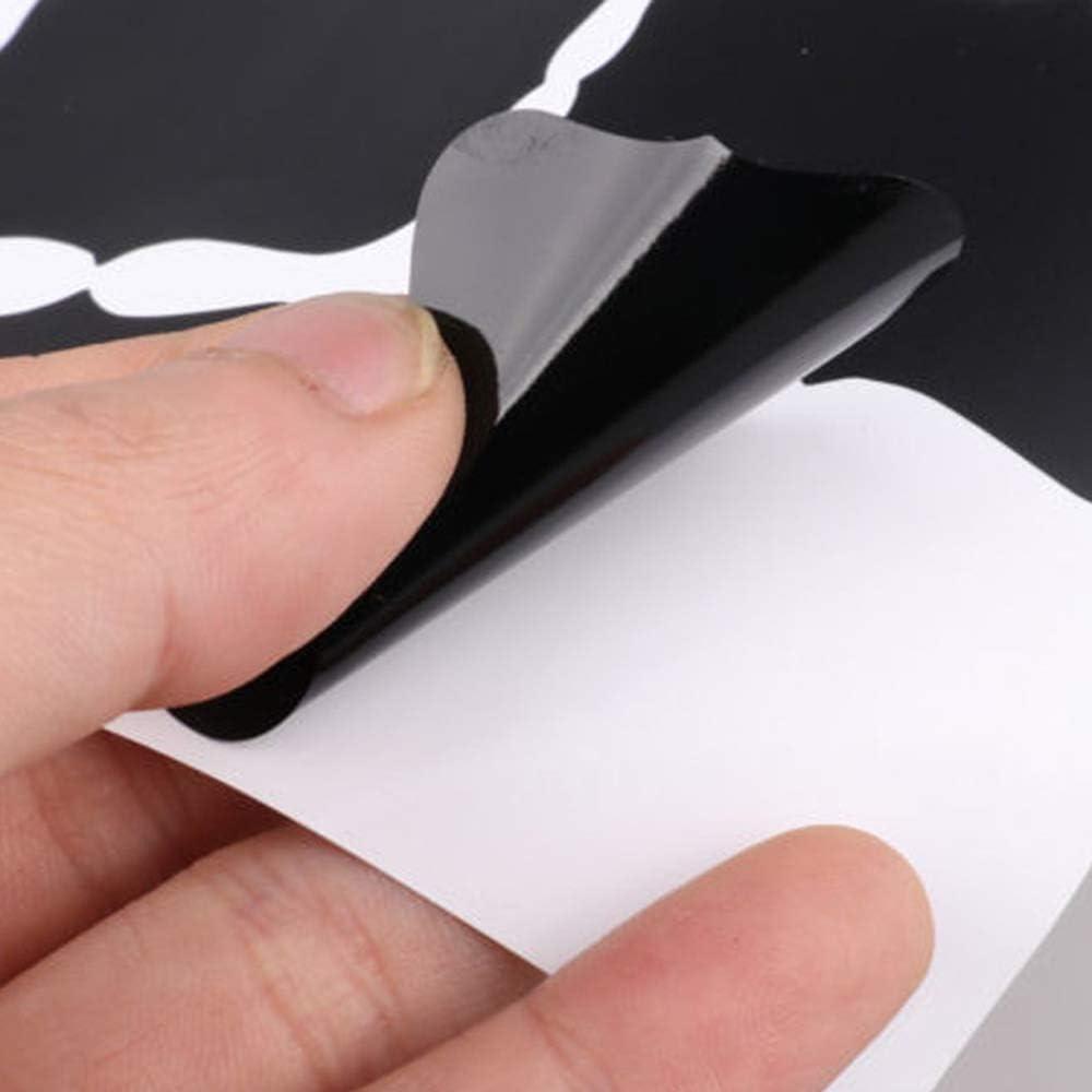 YAMAZA 36 Pi/èces Autocollants d/Étiquettes De Tableau Noir PVC /Étanche Autocollant De Bouteille en Verre R/éinscriptible Autocollants Amovibles R/éutilisables pour Mason Jars
