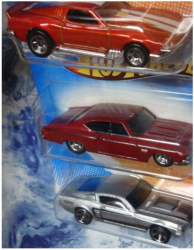Hot Wheels Detailed Diecast Blvd. Bruiser , '69 Chevy Chevelle, '67 Shelby GT-500 1/64 Scale