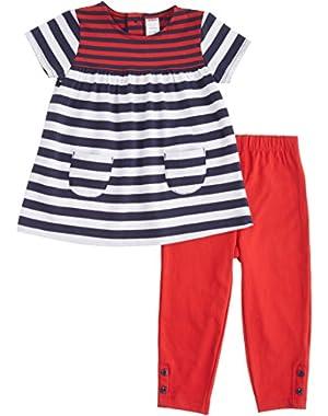 Baby Girls' Patriotic Striped Tunic & Leggings Set