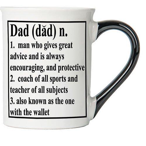 Cottage Creek Dad Mug 18 Ounce Ceramic Dad Coffee Mug/ Dad Mug [White]