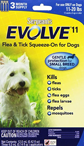 Sergeant's Evolve 11 Flea and Tick Squeeze-On for Dogs, 11-20 - Sergeants Tick And Flea