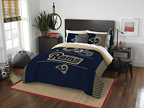 NFL Los Angeles Rams ''Draft'' Full/Queen Bedding Comforter Set by Northwest