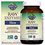 Garden of Life Digestive Raw 22 Enzymes Supplement Capsule - Men for Digestion, Gut Health, Bloating, Bromelain, Papain Lipase, Probiotics, Nattokinase, 90 Count