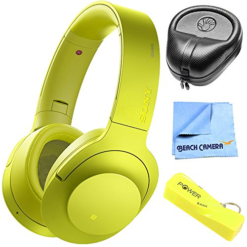 Sony H.ear on MDR100ABN B wireless noise cancelling headphone, lime yellow International Version
