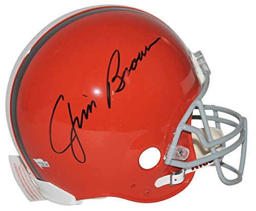 Browns Jim Brown Signed Authentic Full Size Helmet Fanatics Hologram #A123471 ()