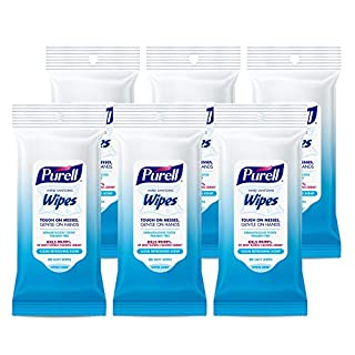 PURELL Hand Sanitizing Wipes, Clean Refreshing Scent, 20 Count Travel Pack (Pack of 6) - 9124-09-EC
