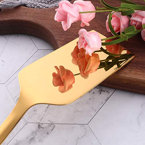 Lasagna Server, BuyGo Gold Pizza Shovel Cookware Stainless Steel Pie Server, Mirror Polish & Dishwasher Safe