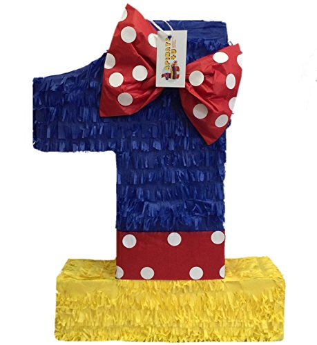 APINATA4U Multi-Color Number One Pinata Princess Theme ()