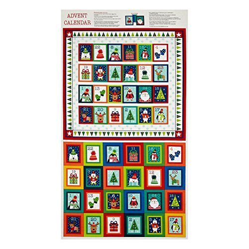 Novelty Christmas Advent Calender 23.5in Panel Bright - Calendar Christmas Panels Advent