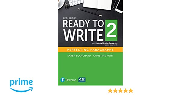 Amazon ready to write 2 with essential online resources 5th amazon ready to write 2 with essential online resources 5th edition 9780134399324 karen blanchard christine root books fandeluxe Gallery