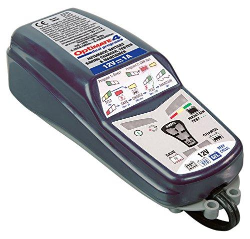 TecMate tm-341TecMATE Optimate 4Dual Program 9-step ahorro de cargador de batería Mantenedor Tester (12V 1A)