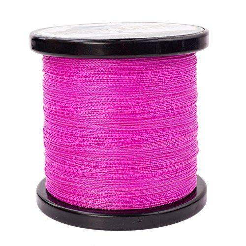 Hercules Braided Fishing Line 500m 547yds 6lbs-100lbs Pe Dyneema Superline 4 Strands (Pink 80lb/36.3kg 0.48mm) (Cortland Saltwater)