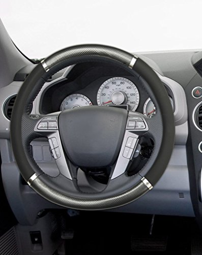 mann steering wheel cover carbon fiber odor free standard fit wood black buy online in uae. Black Bedroom Furniture Sets. Home Design Ideas