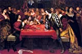Valentine Cameron Prinsep Venetian Gaming-House in the Sixteenth Century - 24'' x 36'' 100% Hand Painted Oil Painting Reproduction