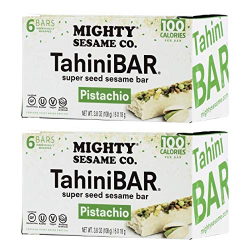 (Mighty Sesame TahiniBars With Pistachio (2 Pack Total 12 Bars))