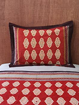 "Spice Route ~ Red Orange Moroccan Style Decorative Pillow Cover 27"" x 21"""