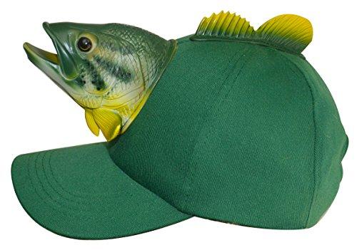 Carp Fish Green 3D Animal Adult One Size Cotton Ball Cap Hat