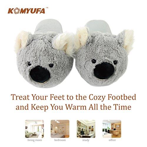 Outdoor Komyufa Cozy Foam Animal Home Memory Women Indoor Koala House Grey Slipper Slippers qgxwBvq1