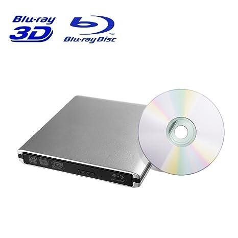 Mbuynow USB 3.0 externo Blu-Ray Drive escritor, 3D BD CD DVD Blu-ray Disc grabador Burner Player para Mac Laptop Notebook Windows