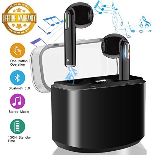 Wireless Earbuds,Bluetooth Earbuds Wireless Headphones Bluetooth Headset HiFi Stereo Wireless Earbuds with Microphone Mini Sports Earpieces in Ear Wireless Earphones for iOS Android Phones
