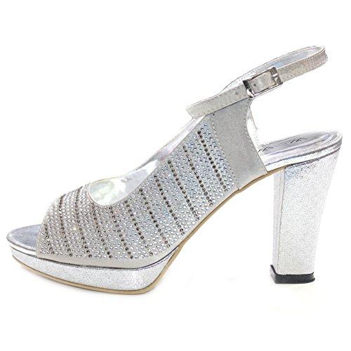 Wear & Walk UK Sandalias de vestir de Material Sintético para mujer Multicolor negro 6duZ1f