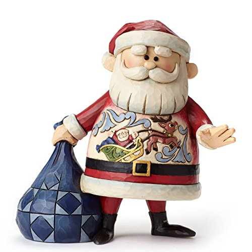 (Jim Shore for Enesco Santa with Sleigh Scene Figurine, 7.1