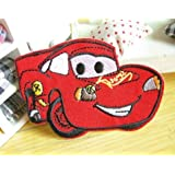 Cars Lightning McQueen Iron on Sew on Embroidered Patch Badge Applique Motif