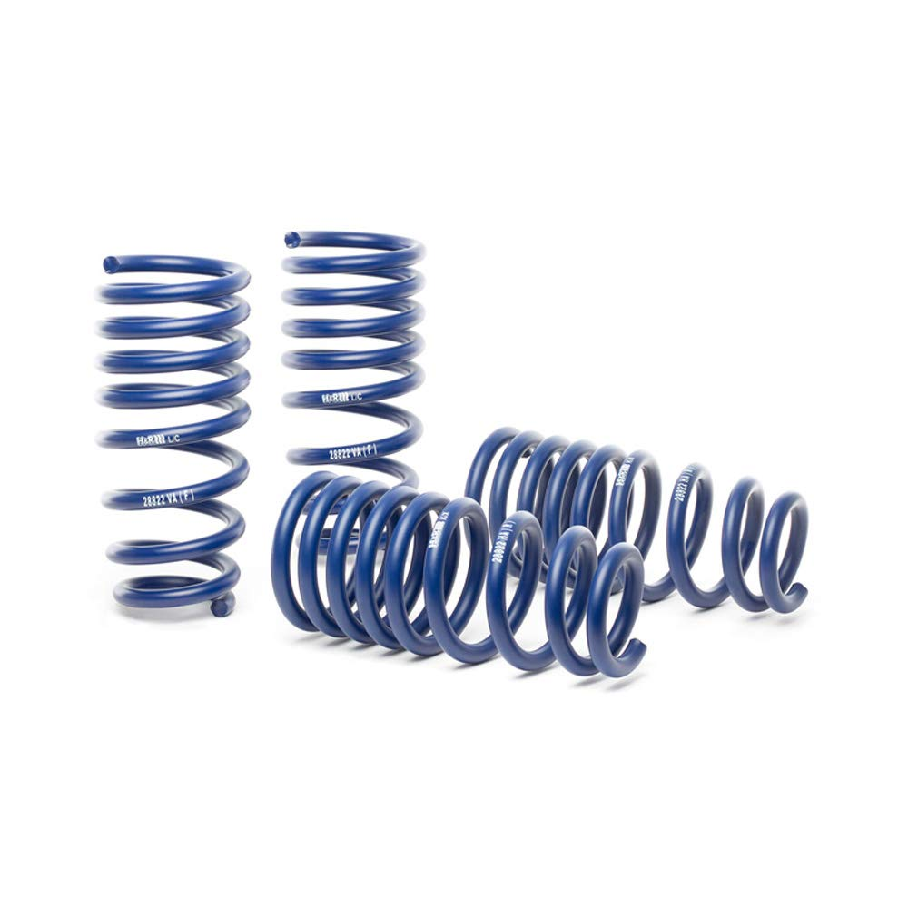 H&R 28697-3 Lowering Springs Alfa Romeo Stelvio Quadrifoglio Verde 4WD 2017-FA40/RA40mm, Blue by H&R