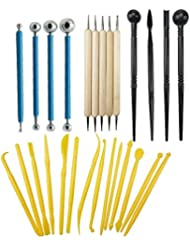 27PCS Fondant Cake Decorating Sculpting Modeling tools and Gum Paste Decorating Tool Kit for Cake Flower, Sculpture Pottery by CSPRING