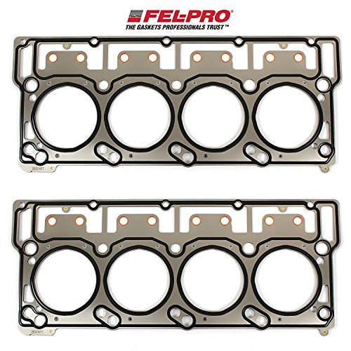 FEL-PRO Head Gaskets compatible with 2003-07 Ford 6.0L 6.0 Powerstroke Diesel Turbo Engines with 18mm head dowels (2 Head ()