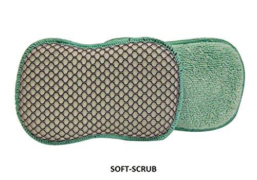 A&H SOFT-SCRUB Microfiber Cleaning Sponges, (6 Pads)