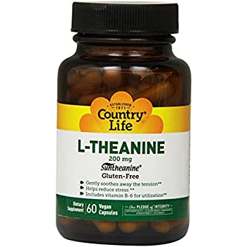 Country Life L-theanine, 200 mg,  60-Count