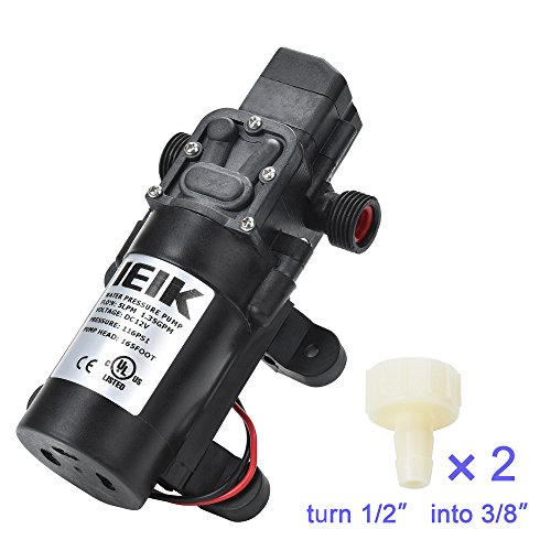 IEIK Water Pressure Diaphragm Pump DC 12V Pressure Switch Sprayer Pump 5LPM 1.35 GPM 116PSI 165ft Self Priming Pump for Caravan RV Boat Marine Agricultural Spraying Port