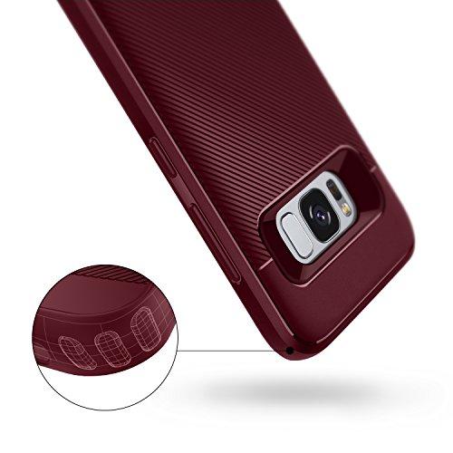 Galaxy S8 Case, Caseology [Vault II Series] Slim Protective Shock Absorbing TPU Textured Grip Corner Cushion Design for Samsung Galaxy S8 (2017) - Burgundy