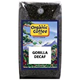 The Organic Coffee Co., DECAF Gorilla- Whole Bean, 2-Pound (32 oz.) Swiss Water Process- Decaffeinated, USDA Organic